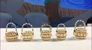 Baskets made by workshop participants